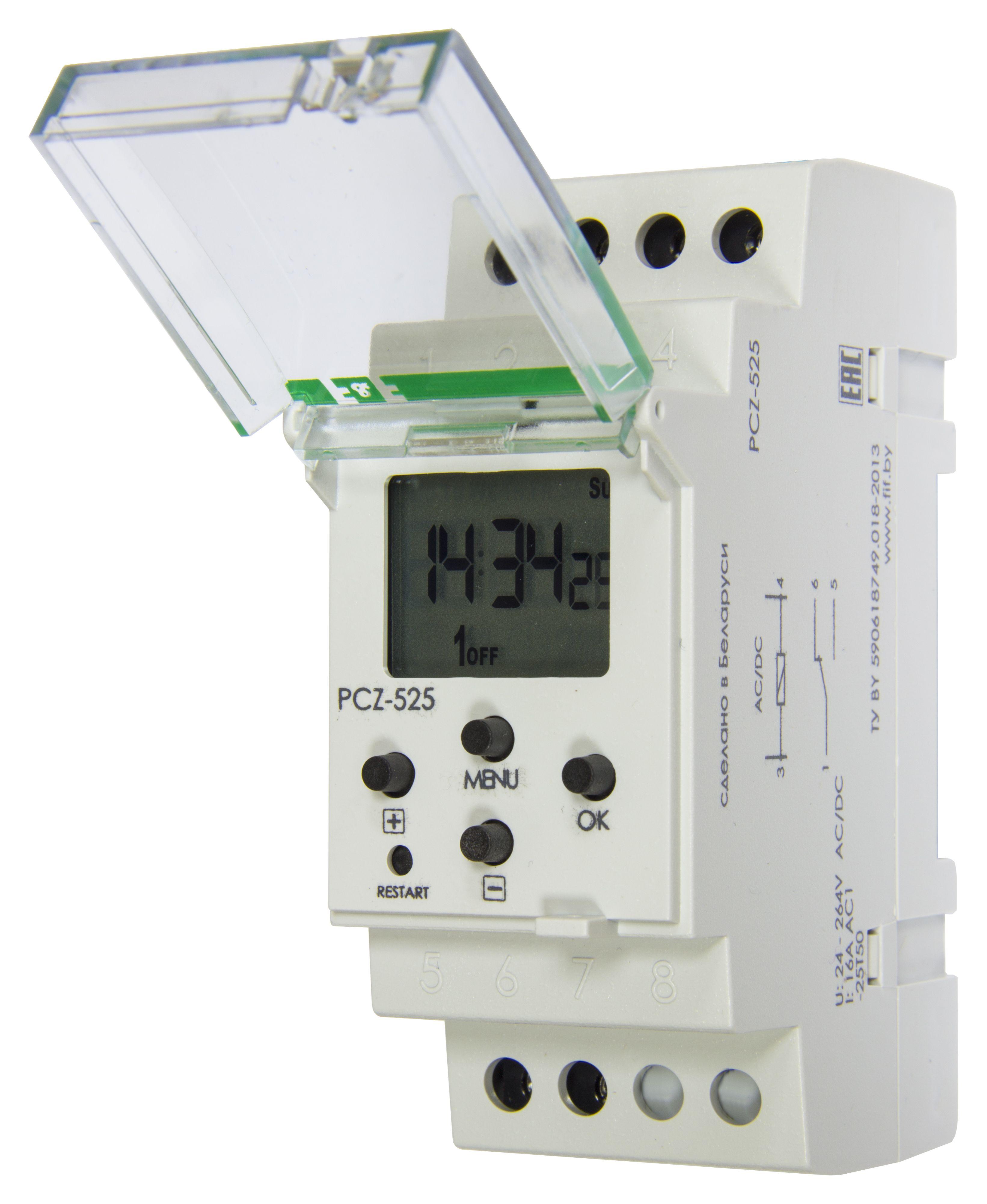 Купить Реле времени программируемое астрономическое PCZ-525, включение/выключение освещ, Евроавтоматика ФиФ