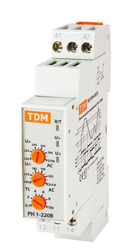 Купить Реле контроля 1-фазного напряжения РН1 5А 220В TDM, TDM ELECTRIC