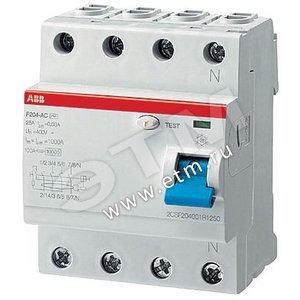 Купить Выключатель дифференциального тока (УЗО) 4п 80А 300мА F204 АС ABB, Италия
