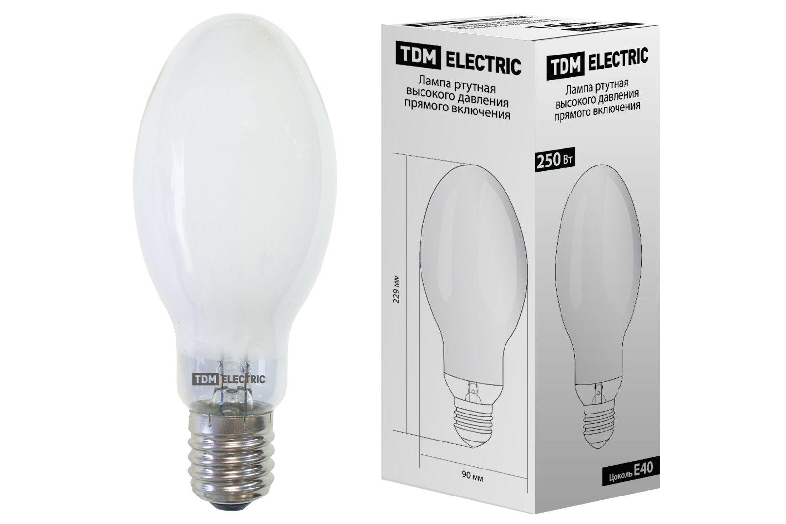 Купить Лампа ртутная TDM SQ0325-0020 250Вт Е40 230В прямого включения, TDM ELECTRIC