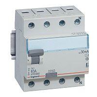 Купить Устройство защитного отключения 4-пол. 63А 30mA тип АС TX3 Legrand