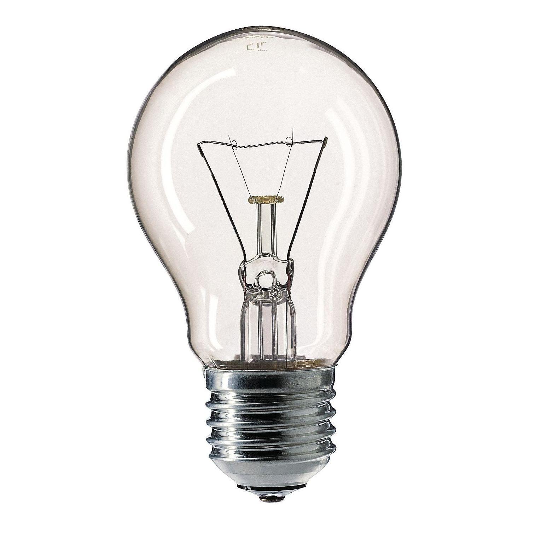 Купить Лампа накаливания Philips Stan 75W E27 230V A55 CL 1CT/12X10F прозрачная