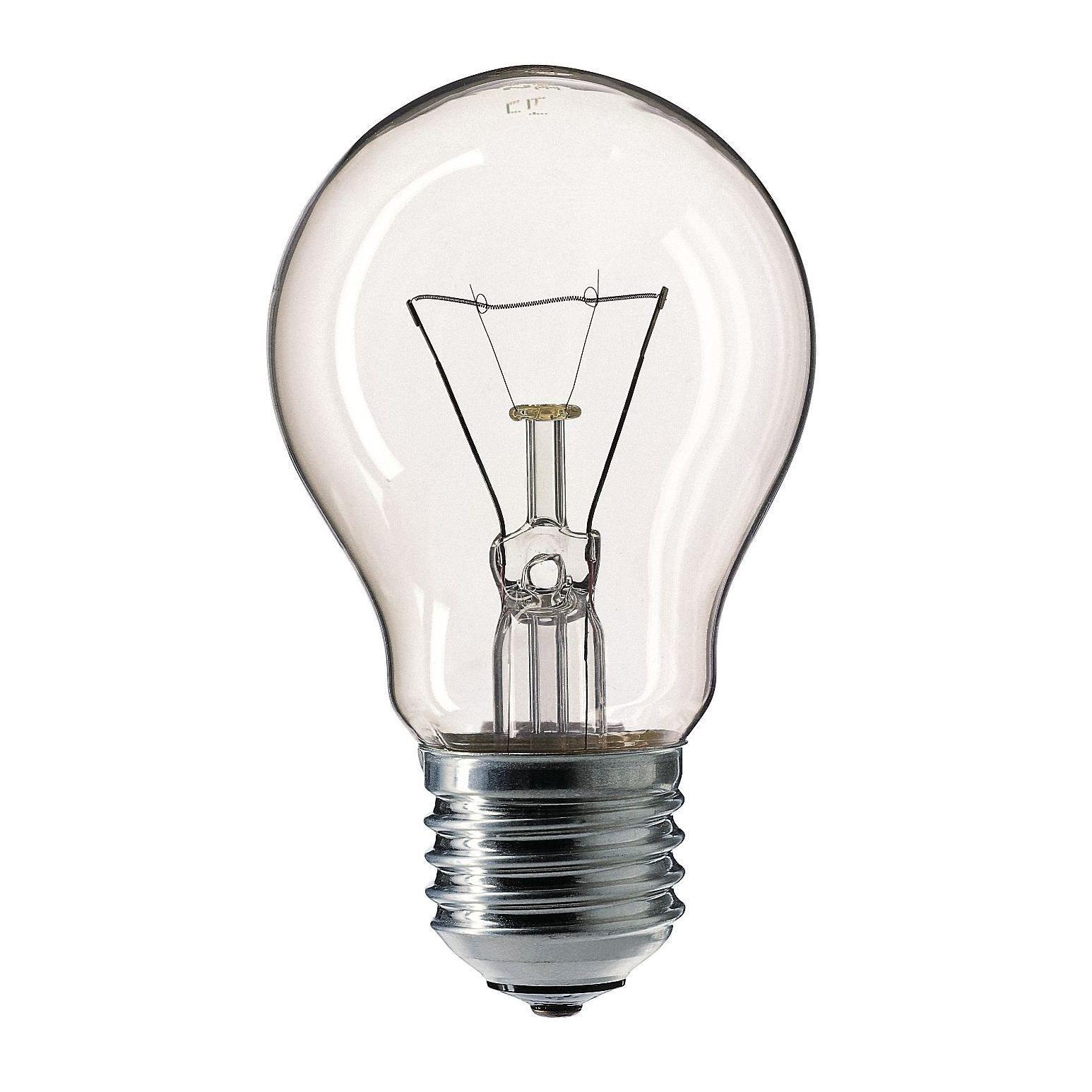 Купить Лампа накаливания Philips Stan 40W E27 230V A55 CL 1CT/12X10F прозрачная