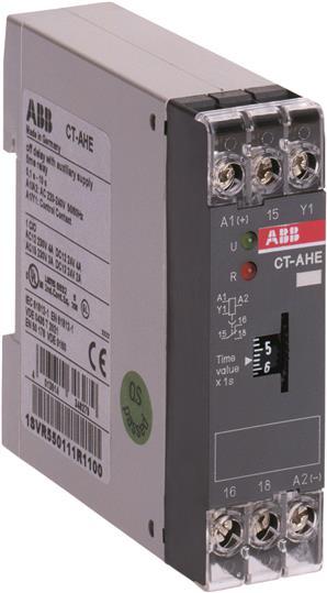 Купить Реле времени CT-AHE 220-240B AC(задержка на отключение ) 0.1-10сек. 1 перекидной, ABB