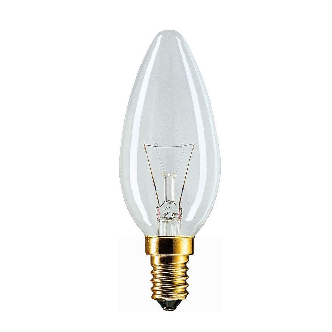 Купить Лампа накаливания Philips Stan 40W E14 230V B35 CL 1CT/10X10F свеча, прозрачная