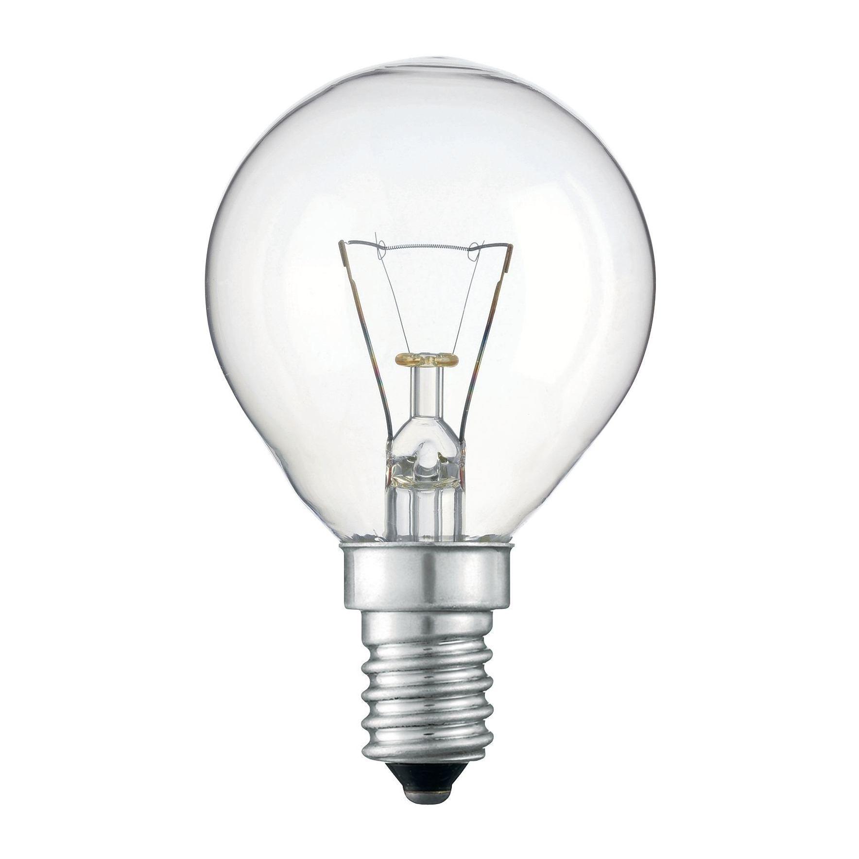 Купить Лампа накаливания Philips P45 40W 230V E14 CL.1CT/10X10F прозрачная
