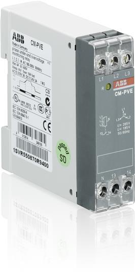 Купить Реле контроля напряжения CM-PVE (контроль 1/3-фаз. Umin/max L-N 185-265В AC ) 1, ABB