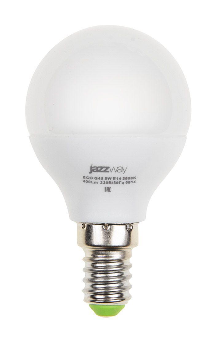 Купить Лампа светодиодная Jazzway PLED- ECO-G45 5w E14 3000K 400Lm 230V/50 теплый-белый