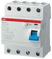 Купить Устройство защитного отключения 4-пол. 40A 300mA тип AC ABB