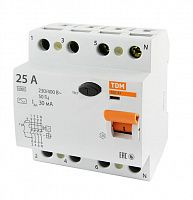 Купить Устройство защитного отключения 4-пол. 25А 30мА ВД1-63 TDM, TDM ELECTRIC