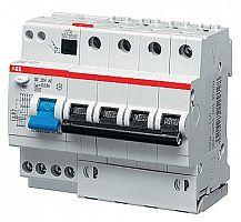 Купить Дифференциальный автомат 4-пол. 16А с 30mA тип AC 6kA 6-мод. ABB