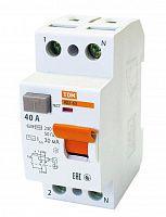 Купить Устройство защитного отключения 2-пол. 40А 30мА ВД1-63 TDM, TDM ELECTRIC