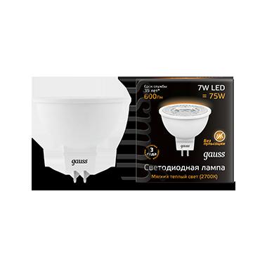 Купить Лампа светодиодная Gauss 101505107 7Вт 230В теплый-белый