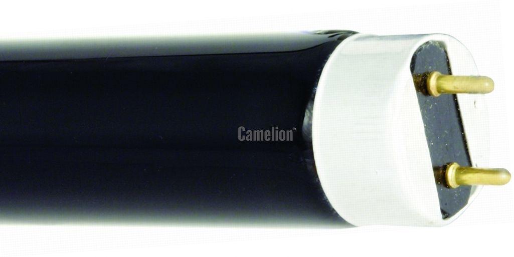 Купить Лампа люминесцентная Camelion FT8-18W Blacklight 604мм 18Вт d26 G13 (мягкий УФ)