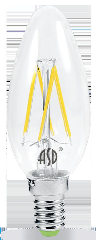 Купить Лампа светодиодная ASD PREMIUM 4690612003252 5Вт 160-260В 3000К 450Лм свеча проз