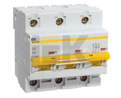 Купить Выключатель автоматический 3-пол. 16A с 10кА ВА47-100 IEK CВА47-100, IEK (ИЭК)