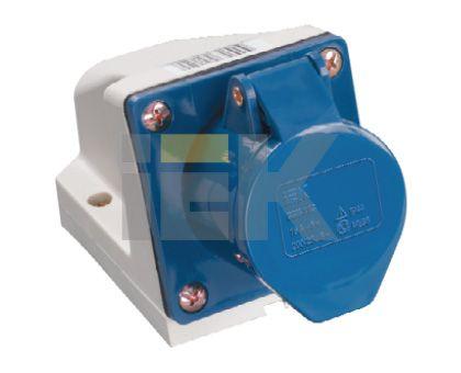 Купить Розетка для монтажа на поверхность 2P+E 32A IP44 123 силовая стационарная IEK, IEK (ИЭК)