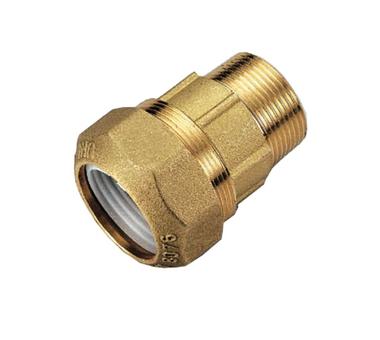 Купить Муфта с наружной резьбой 40х1 для труб ПНД винтовой TIEMME 3400028(3460G004006CR, Италия