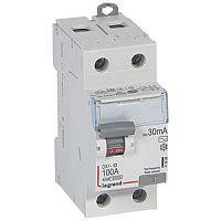 Купить Устройство защитного отключения 2-пол. 100А 30mA тип АС DX3 Legrand