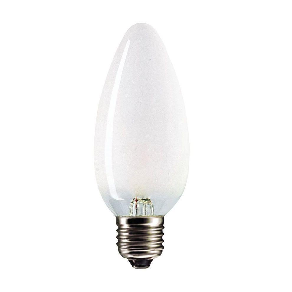 Купить Лампа накаливания Philips Stan 60W E27 230V B35 FR 1CT/10X10F свеча матовая