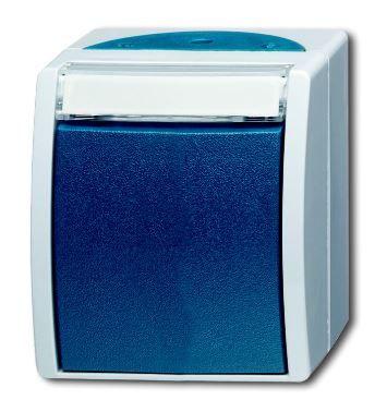 Купить Переключатель 1-кл. О/У 10А, 250В IP44 серый Ocean пылевлагозащищенный, ABB