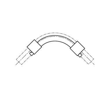 Отвод направляющий с кольцами 90 20 для труб из сшитого полиэтилена REHAU 113889