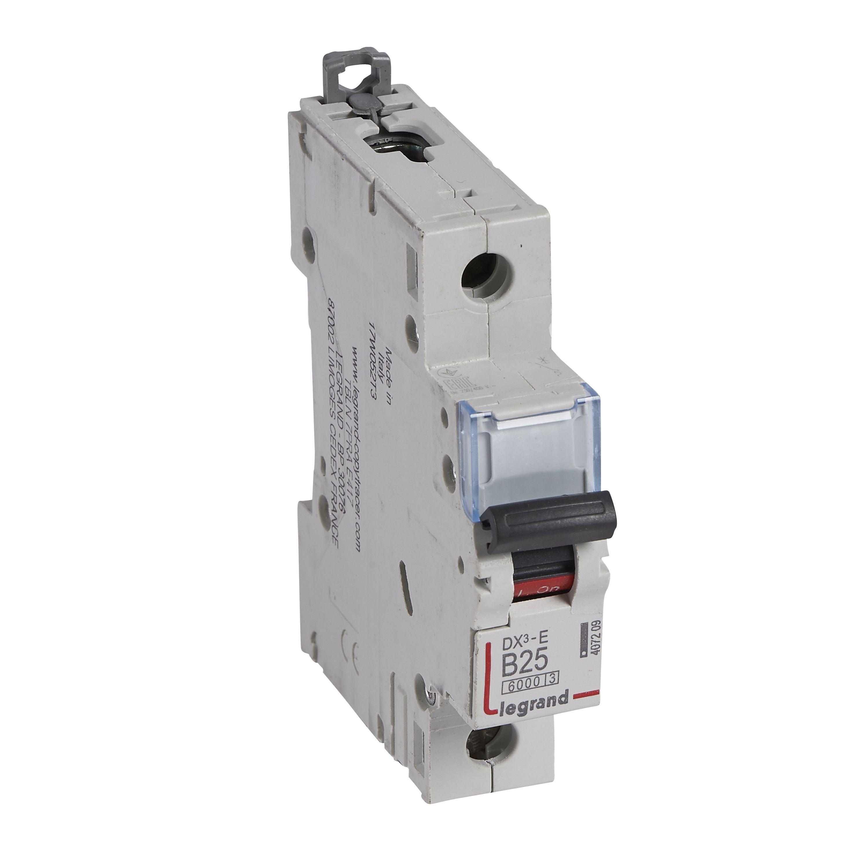 Купить Выключатель автоматический 1-пол. 25A B 6kA DX3-E Legrand DX3 6 kA B