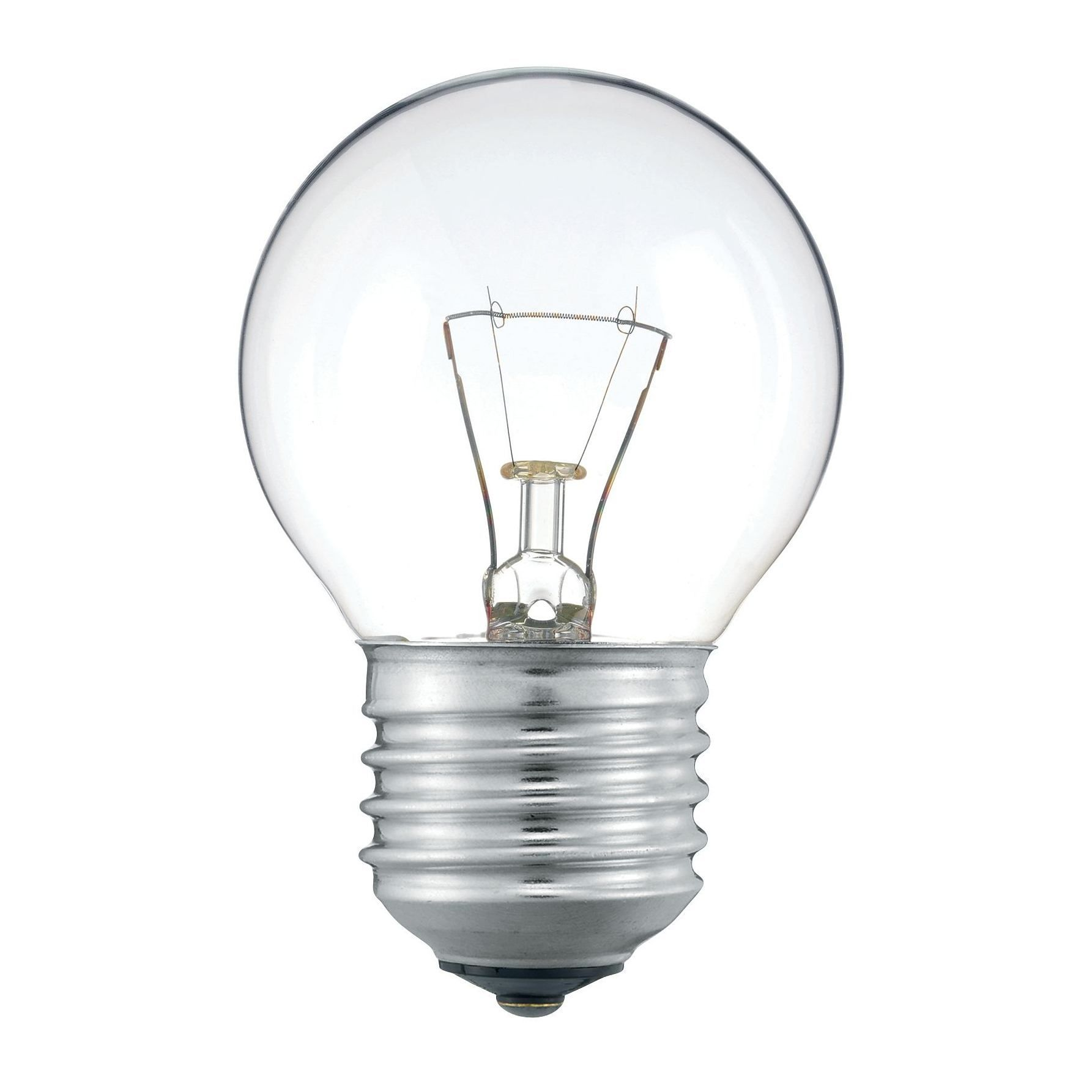 Лампа накаливания Philips P45 60W 230V E27 CL.1CT/10X10F прозрачная  - Купить