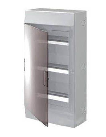 Купить Бокс настенный Mistral41 36М дымчатая дверь (с клеммами) 3 ряда 507х292х120 IP41, ABB
