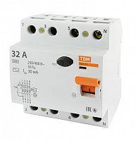 Купить Устройство защитного отключения 4-пол. 32А 30мА ВД1-63 TDM, TDM ELECTRIC