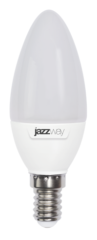 Купить Лампа светодиодная Jazzway PLED-SP C37 7w 3000K E14 530Lm 230/50 свеча, теплый-б