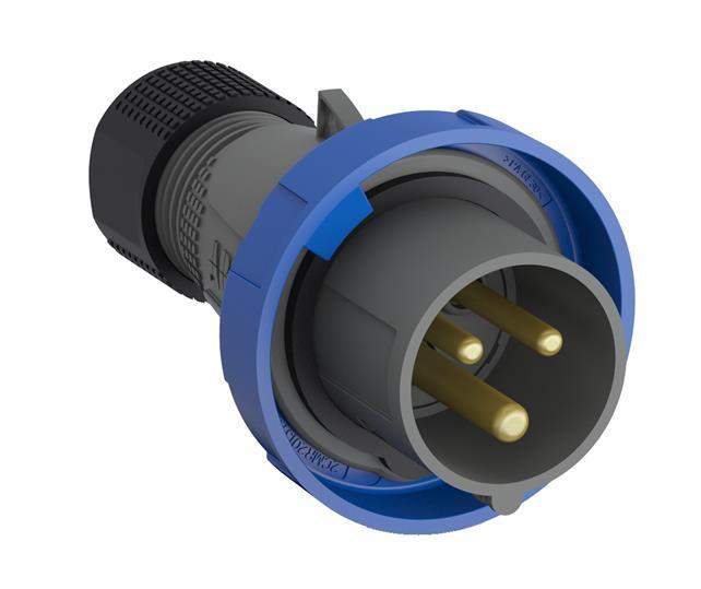 Купить Вилка силовая переносная 2P+E 16A IP67 ABB Easy&Safe