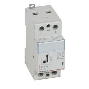 Купить Силовое реле 2-пол. 40А 2НО 230V малошумн. с рук. CX3 Legrand