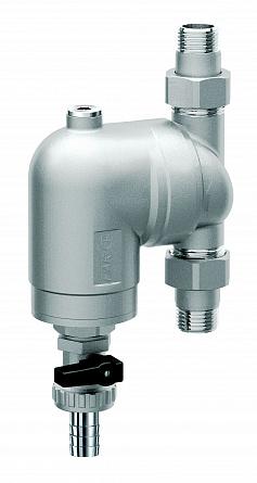 Купить Фильтр 300мкм, под манометр, Max: 95 °C, 25 бар. Поворотное соединение 3/4 НР, FAR