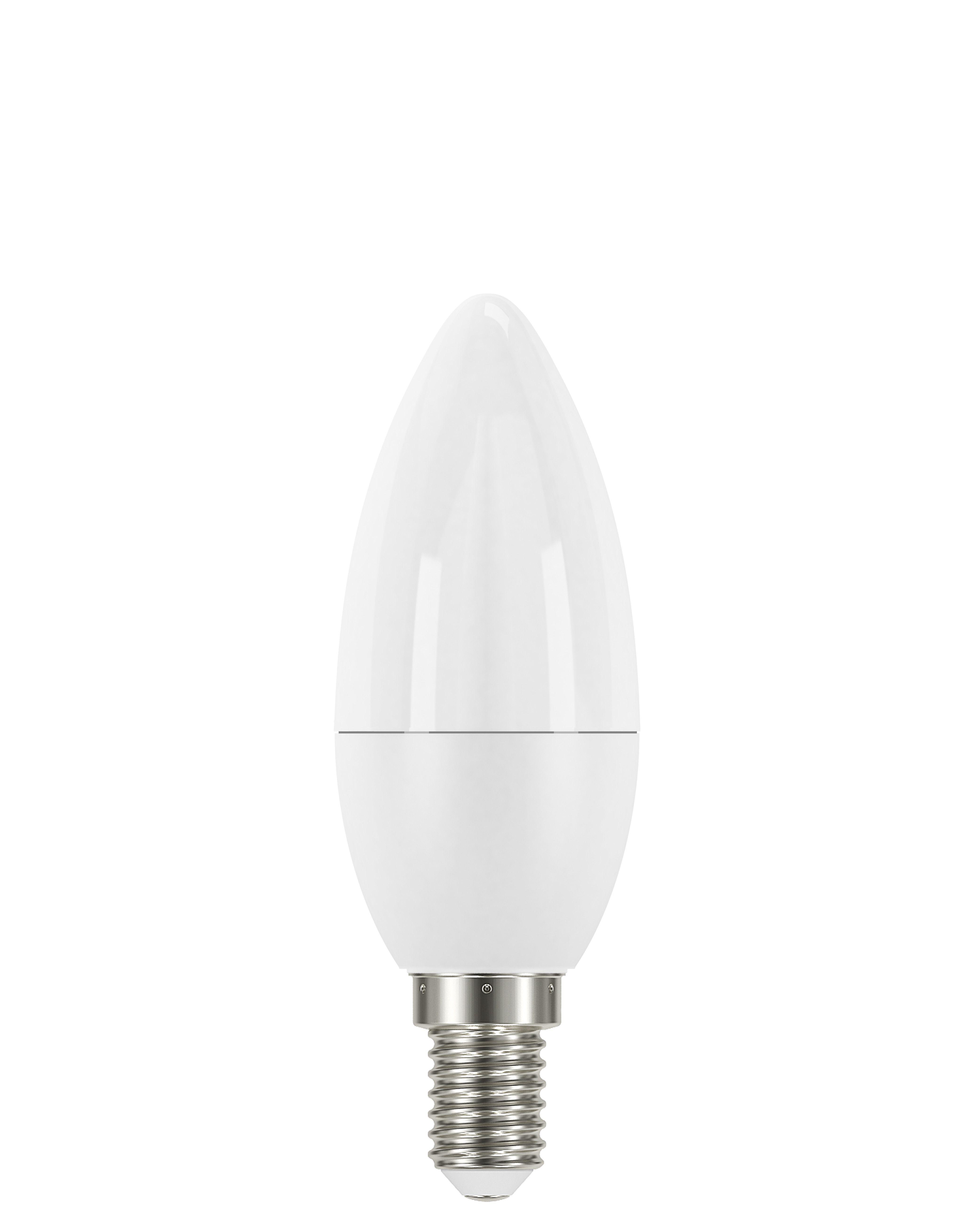 Купить Лампа светодиодная Osram LS CLB40 5, 4W/830 230VFR E14 10X1RUOSRAM свеча теплый-б, Osram Ledvance