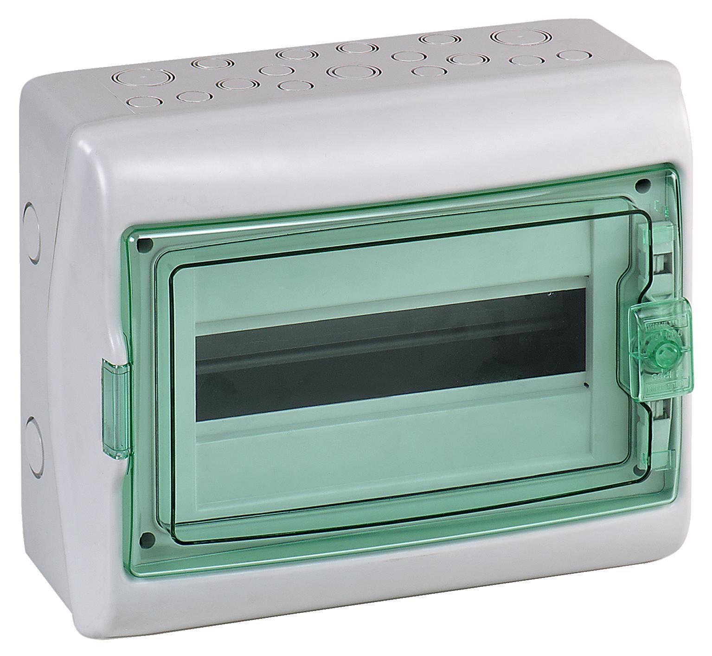 Купить Бокс настенный IP65 12М с прозр. дверью (Kaedra), 280х340х160мм, с шиной PE Schn, Schneider Electric