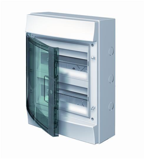 Купить Бокс настенный IP65 24М Mistral дымчатая дверь 320x435x155 ABB