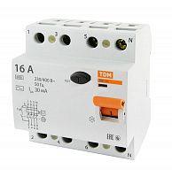 Купить Устройство защитного отключения 4-пол. 16А 30мА ВД1-63 TDM, TDM ELECTRIC
