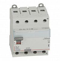 Купить Устройство защитного отключения 4-пол. 40А 300mA тип АС DX3 Legrand