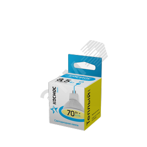 Купить Светодиодная лампа КОСМОС BASIC JCDR 8.5W 220V GU5.3 3000K КОСМОС, Космос, Китай