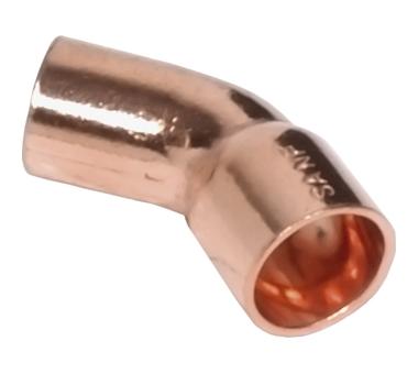 Отвод 45° ВП-НП, медь 22, для медных труб под пайку Sanha 5040 1504022