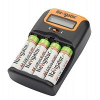 Купить Зарядное устройство Navigator АА/ААА Ni-MH от 220В, прикуривателя или USB
