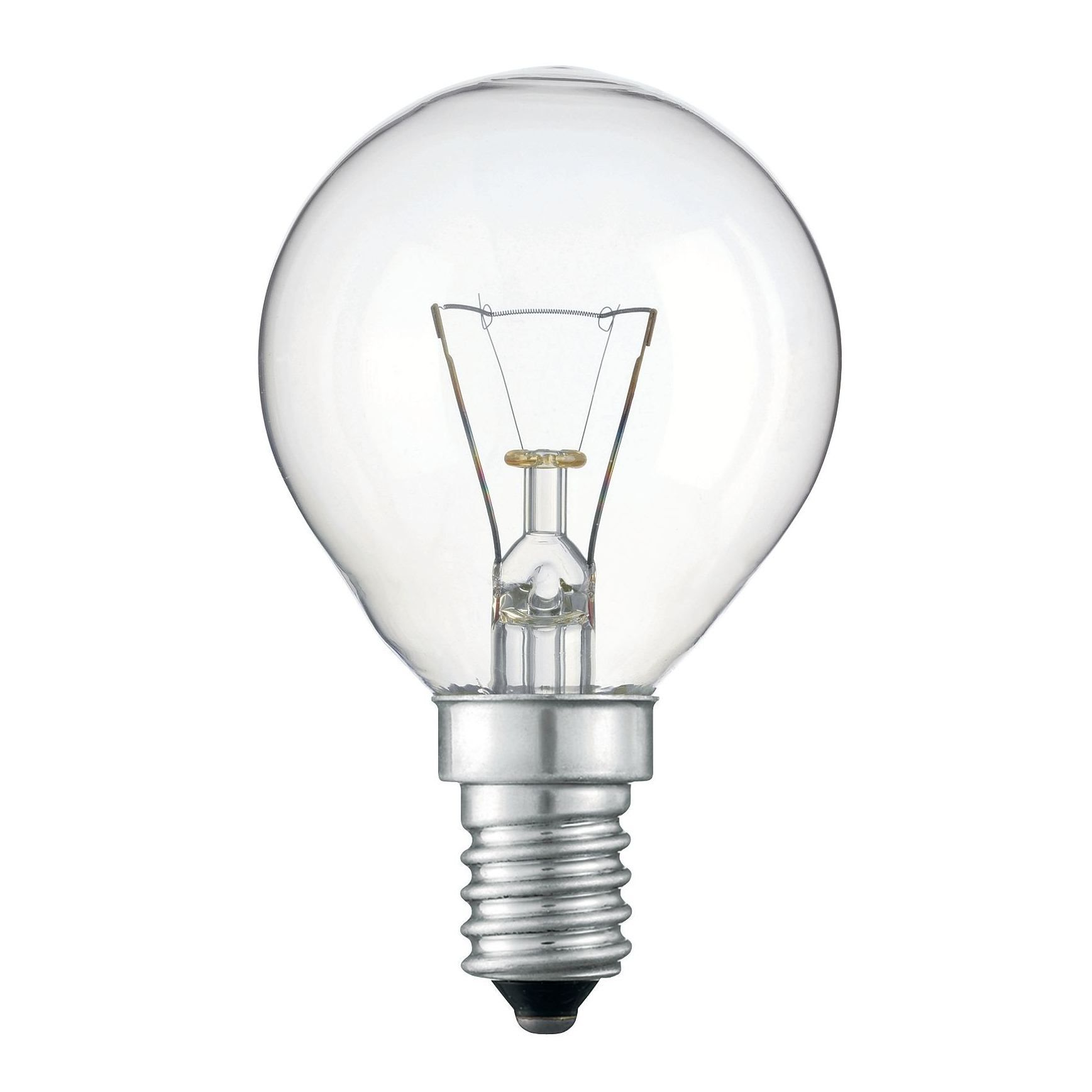 Купить Лампа накаливания Philips P45 60W 230V E14 CL.1CT/10X10F прозрачная