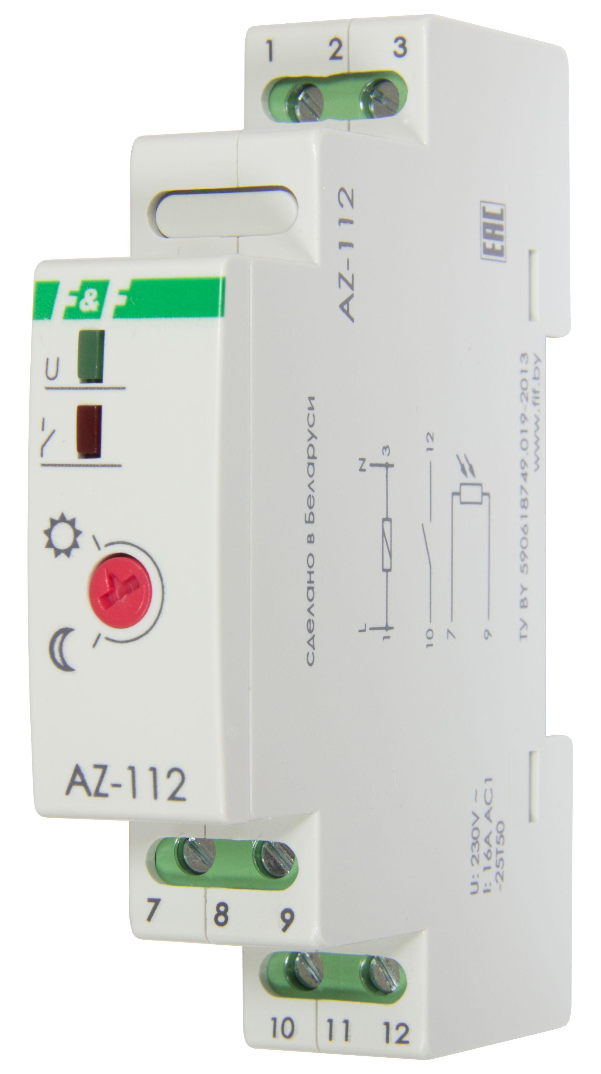 Купить Фотореле включения освещения AZ-112 с датчиком освещенности IP65(1 модуль), Евроавтоматика ФиФ