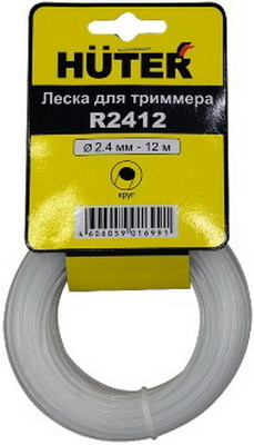 Купить Леска Для Садовых Триммеров Huter R2412 D=2.4Мм L=12М Для Huter Ggt-800S(T)/1000
