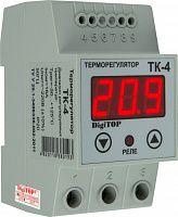Купить Терморегулятор ТК-4, монт. на DIN-рейке 35 мм, 16А, 220В 50Гц, –55°C…+125°C, DigiTOP