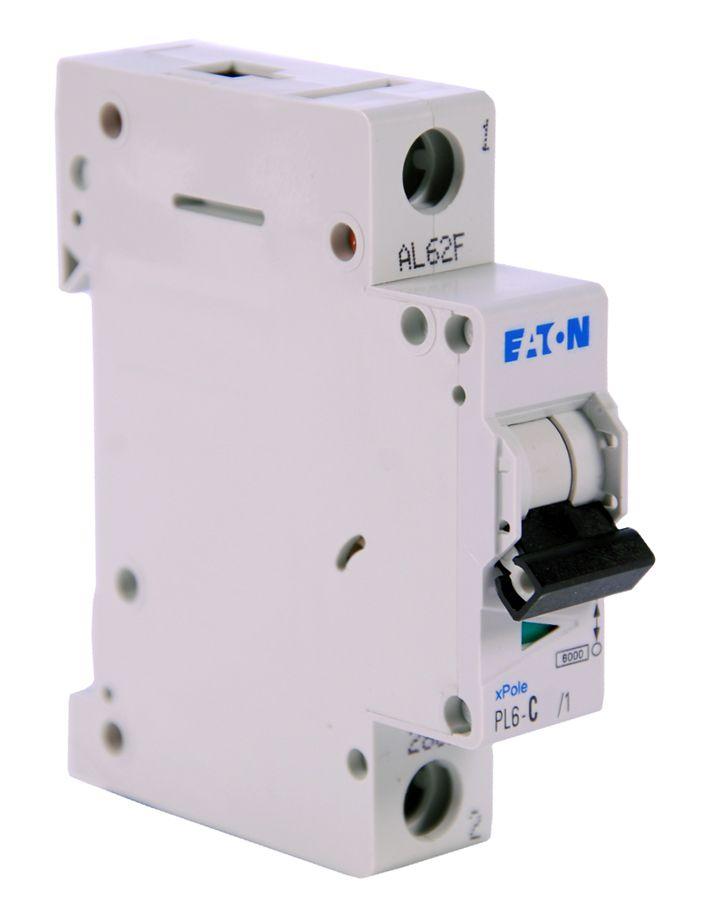 Купить Автоматический выключатель 63А, хар. С, 1-пол., 6 кА PL6 (6 кА), PL7 (10kA), PLH, EATON