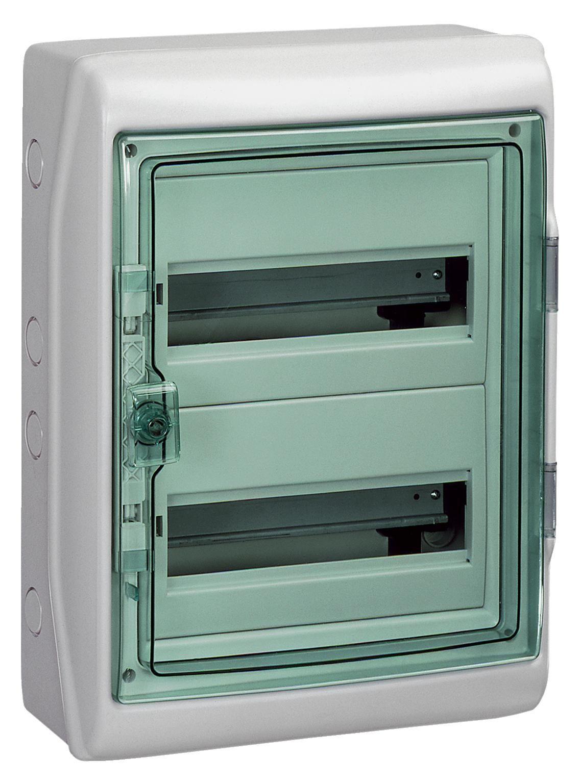 Купить Бокс настенный IP65 2x12М с прозр. дверью (Kaedra), 460х340х160мм, с шиной PE Ka, Schneider Electric