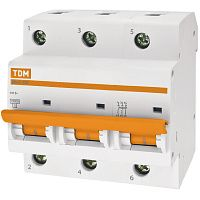 Купить Выключатель автоматический 3-пол. 100А с 10кА ВА47-100 TDM ВА47-100, TDM ELECTRIC