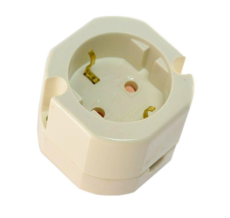 Купить Розетка с заземляющим контактом одиночная ANAM открытая установка, ANAM (Legrand)